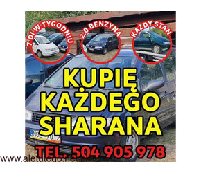 Skup VW Sharan, Każdy Kupię Sharana 2.0 Benzyna /  Kupię Toyota,Kaczka